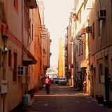 Kleine weg bij manama Bahrein royalty-vrije stock afbeelding