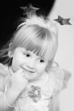 Kleine weiße Prinzessin Stockbild