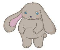 Kleine weiche graue Kaninchenvektorillustration stock abbildung