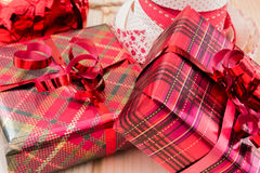 Kleine Weihnachtsgeschenke Lizenzfreie Stockfotos