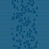 Kleine Wellen, die durch die Linie Raum sich bewegen Abstrakter vektorhintergrund vektor abbildung