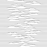 Kleine Wellen, die durch die Linie Raum sich bewegen Abstrakter vektorhintergrund stock abbildung