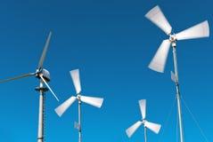 Kleine Windkraftanlagen Stockfotos