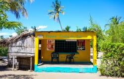 Kleine winkelafzet in Mozambique, Afrika royalty-vrije stock foto