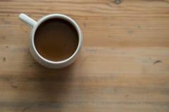 Kleine witte kop van koffie Royalty-vrije Stock Afbeeldingen
