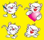 Kleine witte tijger stock illustratie