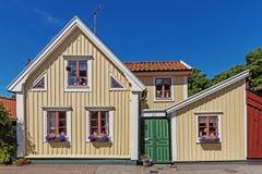 Kleine Wohnhäuser Stockbild