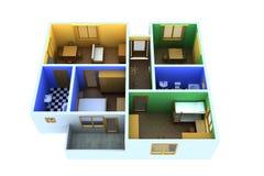 Kleine Wohnung Lizenzfreies Stockbild