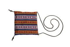 Kleine zak met etnische ornamenten Stock Afbeelding