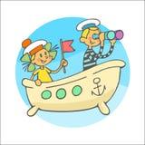 Kleine zeelieden Royalty-vrije Stock Foto