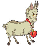 Kleine Ziege mit Herzen Lizenzfreie Stockbilder