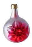 Kleine zilveren-rode bal royalty-vrije stock foto