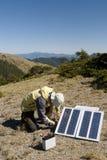 Kleine zonne-energie in in openlucht Stock Afbeeldingen