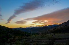 Kleine zonsondergang Royalty-vrije Stock Afbeeldingen