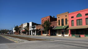 Kleine Zuidelijke stad Stock Foto's