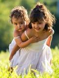 Kleine zusters Royalty-vrije Stock Fotografie