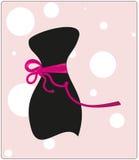 Kleine zwarte kleren met een lint Stock Afbeelding