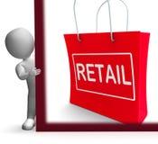 Kleineinkaufszeichen-Shows, die Waren-Verkäufe verkaufend kaufen stock abbildung