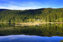 Kleiner Arbersee is a lake in Bayerischer Wald, Bavaria, Germany Royalty Free Stock Images