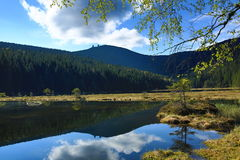 Kleiner Arbersee is a lake in Bayerischer Wald, Bavaria, Germany Royalty Free Stock Photos