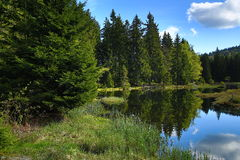 Kleiner Arbersee is a lake in Bayerischer Wald, Bavaria, Germany Stock Photo