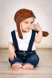 Kleiner Babypilot Stockfotos