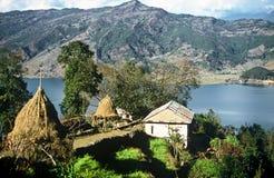 Kleiner Bauernhof, Nepal Lizenzfreies Stockfoto