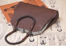 Kleiner Beutel der Browndame (rein) der Art 50s. Lizenzfreie Stockfotografie