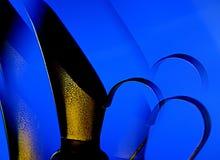 Kleiner blauer Pitcher Stockbild