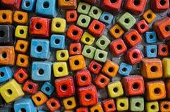 Kleiner Block colorfull keramischen Legens für backgound Stockbilder