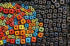 Kleiner Block colorfull keramischen Legens für backgound Lizenzfreie Stockfotos