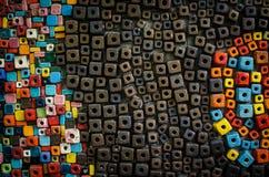 Kleiner Block colorfull keramischen Legens für backgound Stockbild