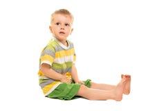 Kleiner blonder Junge Stockfoto
