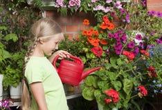 Kleiner Blumenhändler Lizenzfreie Stockfotos