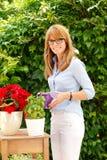 Kleiner Blumenladeninhaber Lizenzfreies Stockfoto