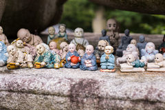 Kleiner Buddha verziert Sammlung Stockbilder