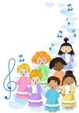 Kleiner Chor von Engeln Lizenzfreies Stockfoto