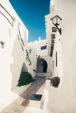 Kleiner Durchgang im binibequer in Griechenland Lizenzfreies Stockfoto