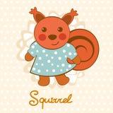 Kleiner Eichhörnchencharakter Lizenzfreies Stockfoto