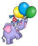 Kleiner Elefant mit Ballonen Stockfotografie