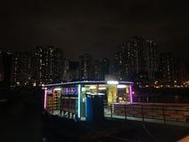 Kleiner Fährenpier an AP Lei Chau lizenzfreie stockfotografie