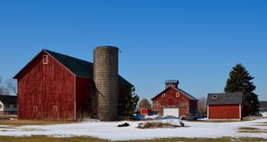 Kleiner Familien-Bauernhof Lizenzfreies Stockbild
