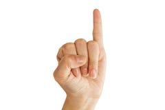 Kleiner Finger des kleinen Fingers Stockbild