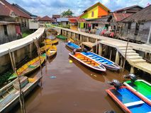 Kleiner Fluss Borneos Stockbilder