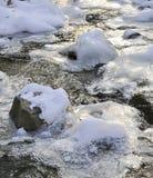 Kleiner Fluss im Winter Lizenzfreies Stockfoto