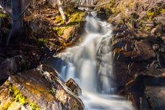 Kleiner Frühlingswasserfall Lizenzfreie Stockfotografie
