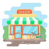 Kleiner gemütlicher Shop stockbilder