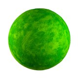 Kleiner grüner Spielzeugplanet stockfoto