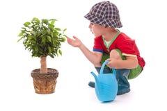 Kleiner Gärtnerjunge Lizenzfreie Stockbilder
