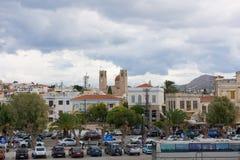 Kleiner Hafen in Aegina-Insel Stockfotografie